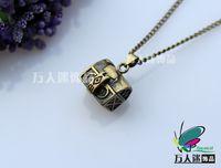 Wholesale Wish Prayer Box Locket - Wish Box Necklaces Perfume Bottle Jewelry Prayer Lockets wish box lockets
