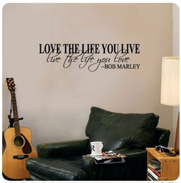 Wholesale Wall Stickers Bob Marley Quotes - Bob Marley Quote Wall Decal Decor Love Life Words Large Nice Sticker Text
