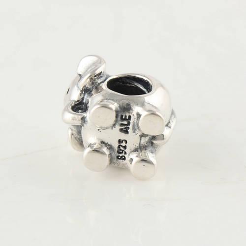 925 Sterling Silver Screw Core Éléphant Charme Perle Adapte Pandora Européenne Bijoux Bracelets Colliers Pendentifs