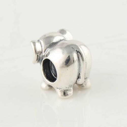 925 Sterling Silver Screw Core Animals Elephant Charm Bead Fits European Pandora Jewelry Bracelets Necklaces & Pendants
