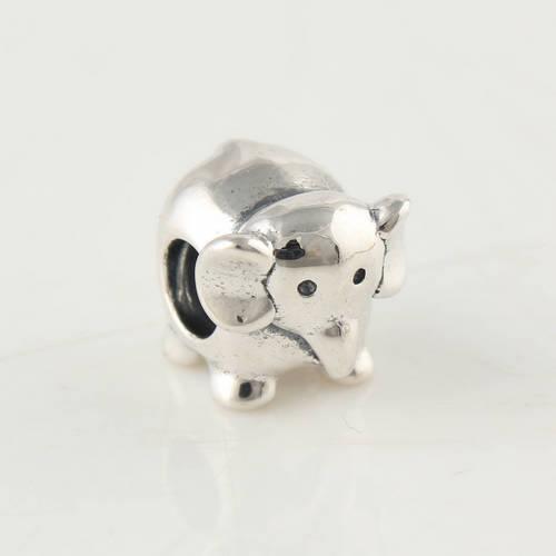 Ciondolo in argento 925 a forma di vite con anima in argento perline Adatto gioielli con pendenti in argento con ciondoli di pandora