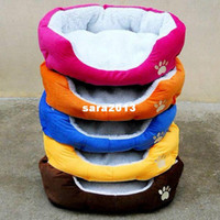 Beds oval dog beds - New pet dog bed dog cotton kennel Color Rose Red Orange Blue Brown Yellow Size M L