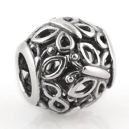 2015 100% 925 Sterling Silver Openwork Borboleta Swarm Talão Serve Para Pandora Europeu Jóias Pulseiras Colares Pingentes