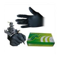 ingrosso guanti liberi in lattice nero-50 paia di guanti monouso neri guanti in lattice senza polvere L taglia corredo del tatuaggio Fornitura WS067-4