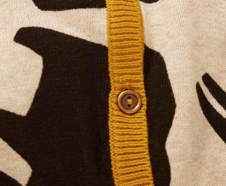 Jassen met lange mouwen van 2013 meisjes Rhinoceros Giraffe Gebreide Cardigan Kinderkleding