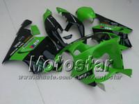 Wholesale Zx7r Green - Green+Black ABS Plastic Fairing kit for KAWASAKI Ninja ZX7R 1996 - 2003ZX 7R ZZR 750 96 97 98 99 00