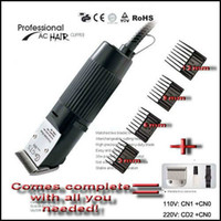 Wholesale Dog Hair Trim - New 30W Professional Pet Dog Hair Trimmer Grooming Clipper EU Plug 110V~120V 220V~240V