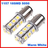 1156 светодиодный теплый белый оптовых-1157 P21 BA15D 18SMD 5050 18-LED хвост тормоз стоп-сигналы лампы ксеноновые лампы чистый белый / теплый белый можно смешать супер яркий 12 в двойной контакт