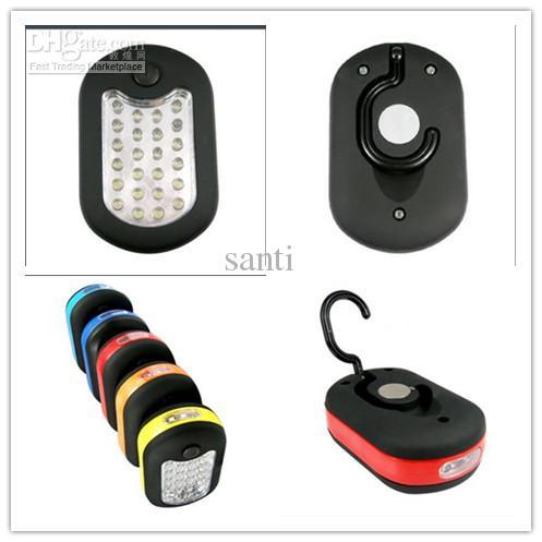 27 24 + 3 LED Torcia funzionante bianca Gancio magnetico Appeso da campeggio esterno Luce da viaggio custodia da viaggio urgente