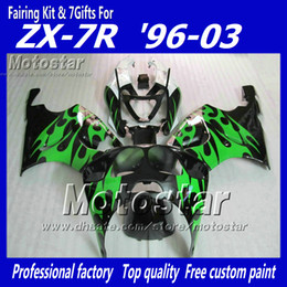 $enCountryForm.capitalKeyWord NZ - Glossy green flame in black YY19 fairing kit FOR KAWASAKI Ninja ZX7R ZX-7R ZX 7R 1996 - 2003 zx-7 fairings kits 96 97 98 99 00 01 02 03