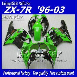 $enCountryForm.capitalKeyWord Canada - Glossy green black YY21 fairing kit FOR KAWASAKI Ninja ZX7R ZX-7R ZX 7R 1996 - 2003 zx-7 fairings kits 96 97 98 99 00 01 02 03