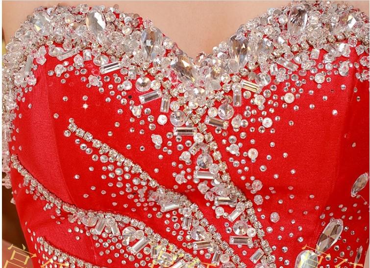 Glamorous 2019 New Sexy spettacolo di cristallo abiti in rilievo unico innamorato senza spalline Prom Dresses Custom Formal Evening Party Gowns