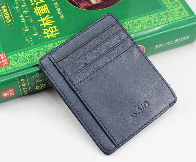 1d8242585125 2017New Mens Fashion Classic Design Casual Credit Card ID Holder Real  Leather Ultra Slim Thin Wallet Packet Bag Mans Womans High Quality