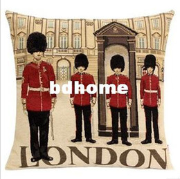 Wholesale Cushion Cover Embroidery Patterns - New arrivals Embroidery cushion covers London both sides patterns throw pillow case for home decoration
