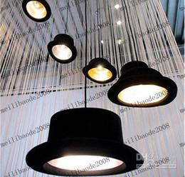 Wholesale Pendant Lamp Fashion - Via EMS   PARCEL FORCE Appro 26*17cm Novelty And Fashion Droplight E27 Hat Style Drop Light Pendant Lamp Lighting Chandelier Black MYY753