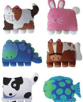 Wholesale Pillow Case Doomagic - Free shipping doomagic Pillow case  pillow cover Pillow shell kids product 6 animal designs