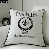 Wholesale Fashion quot Paris quot Decorative Cushion Cover Throw Pillow Cover Cotton Pillow Case X45CM BSL CC16 amp Retail