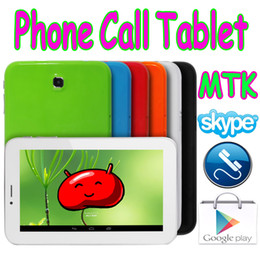 Wholesale Mtk Single Core - 7 Inch MTK6515 2G GSM Phone Call Android 4.1 Tablet PC Unlocked S3 Design Wifi Dual Camera Skype
