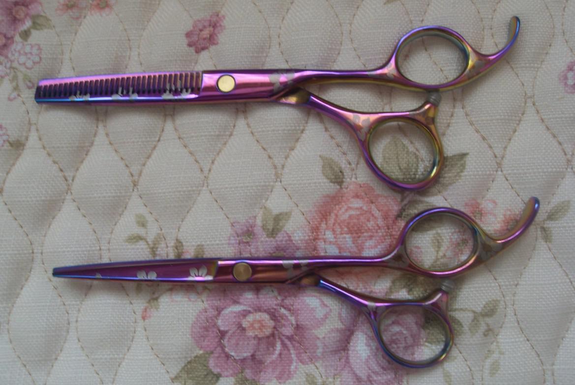 color del arco iris 5,5 PULGADAS tijeras de corte de pelo y tijeras de corte de uso familiar