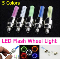 Wholesale Tyre Flys - flashing LED Flash Tyre Light for Car Bicycle Motorcycle fire flys led Wheel Valve Stem Lamp 5 Color
