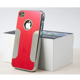 """Wholesale Aluminum Case 4g - Luxury Brushed Metal Aluminum Chrome Hard Case Cover Skin Mixed Colors For 4.7"""" Apple iPhone 6 6G 4 4G 4S 5 5G 5S 5C"""
