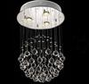 Modern Fashion Clear K9 Crystal Pendant Light Chandelier Living Room Lamp D400mm X H650mm