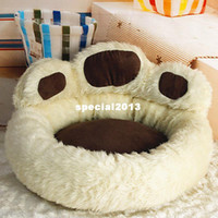 Wholesale Pink Paws - Unique design Bear's paw Small dog beds cute dog pet products free shipping Brown Pink