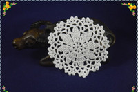 Wholesale Place Europe - Set Of 100 pieces new home wedding party decorations hand Crocheted Doilies Coaster Vase mat Place mats 3.9Inch 10x10cm 11 colors