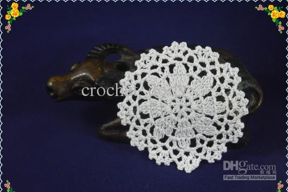 Set Of new home wedding party decorations hand Crocheted Doilies Coaster Vase mat Place mats 3.9Inch 10x10cm