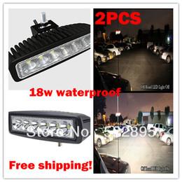luzes led automotivas atacado Desconto Atacado-2PCs / Lot 18W Car Work Light 6 polegadas Offroad LED Bar Mini LED Luz de trabalho Luz de navegação Caça Car Light, barra de nevoeiro LED