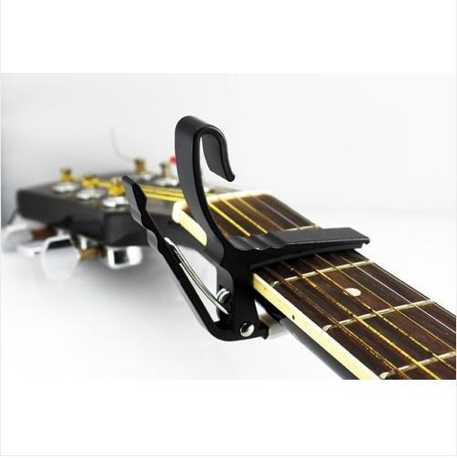 Guitarra rápida trigger gatilho capô chave braçadeira acústica guitarra elétrica cordas braçadeira