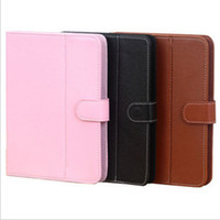 Universal PU Leather Case Capa para 7 polegadas 8 polegadas 10 polegadas Tablet PC COM SNAP MOVÁVEL