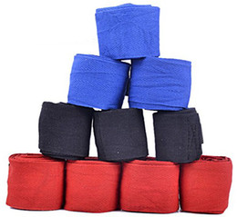 Wholesale Free Boxing Gloves - Free shipping 2Pieces 1Pair 2.8Meter Cotton Boxing Bandage Hand Wrist Supporter Fist Pad Glove