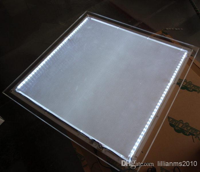 Ultra Slim Crystal LED Menu Board,Restaurant Acrylic frameless Lighting Up Menu Light Boxes A4-A1