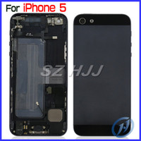 Wholesale Iphone5 Housing Assembly - Back Cover Housing Assembly With Middle Frame Bezel and Other Repair Parts For Apple iPhone5 5G 5th