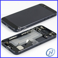Wholesale Iphone5 Housing Assembly - For iphone 5 Full Housing Assembly Back Cover With Flex Cable and Other Replacement For iphone5