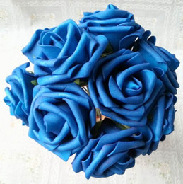 $enCountryForm.capitalKeyWord NZ - New Arrivals Hot Deep Blue 50pcs Dia.7cm Artificial Simulation PE Foam Camellia Rose Wedding Christmas Bridal Flower