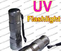 Wholesale Anti Counterfeit - New 12 LED UV Ultra Violet Aluminum Alloy Flashlight Blacklight anti-counterfeiting Money MYY729