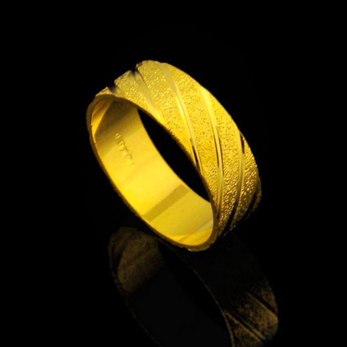 Ms Matte Gold Plated Ring Lord The Rings Men Wedding Rings