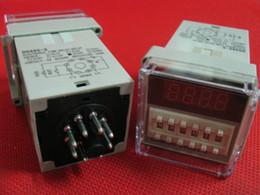 Wholesale Digital Display Time Relay - 220v  110v 24v 12VAC digital time delay repeat cycle relay timer 1s-990h LED display 8 pin panel