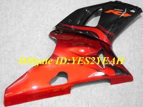 Motocicleta carenagem kit corpo para 2000 2001 YAMA YZFR1 YZF R1 YZF-R1 YZR1000 00 01 carenagem laranja preto carroçaria + presentes YS14