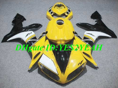 Injectie Keuken Body Kit voor Yamaha YZFR1 2004 2005 2006 YZF R1 YZF1000 R1 04 05 06 Geel Wit Backings Carrosserie + Geschenken YD13