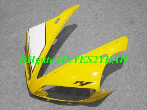 Kit de corpo de carenagem de injeção para YAMAHA YZFR1 2004 2005 2006 YZF R1 YZF1000 R1 04 05 06 amarelo branco Carrocerias Carroçaria + presentes YD13