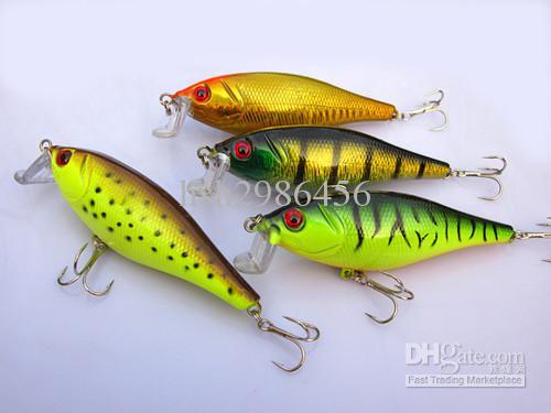 Pêche en gros Lure Popper Crankbaits basse crochets 13.5g / 9.5cm Livraison gratuite