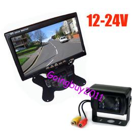 "Trucks Camera NZ - 12v- 24v 7"" LCD Monitor Car Rear View Kit + IR Reversing Camera For Bus Long Truck with 10m cable Free Shipping"