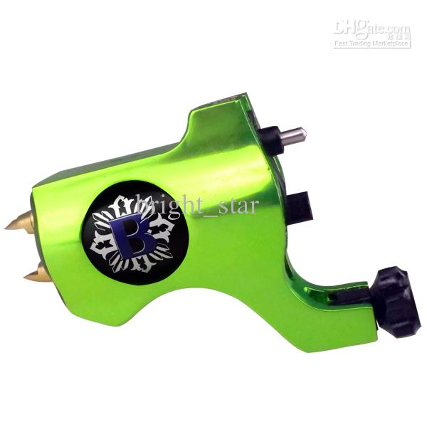 Pro Silver Bishop Style Rotary Tattoo Machine Gun For Tattoo Needle Ink Cups Tips Kits can choose