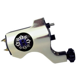 Wholesale Pro Choose - Pro Silver Bishop Style Rotary Tattoo Machine Gun For Tattoo Needle Ink Cups Tips Kits 8 colors can choose