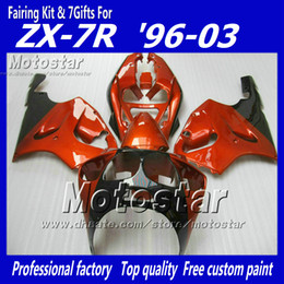 $enCountryForm.capitalKeyWord Canada - red black fairing kit FOR KAWASAKI Ninja ZX7R 1996 - 2003 zx-7r fairings kits 96 97 98 99 00 01 02 03