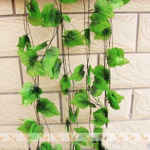 60m / partij Goedkope Decoratieve Druif Rattan Kunstbloem Wijnstok Schaduw Planten Wisteria Vine Cane Tuin Decoratie Party Feestelijke benodigdheden FZ1