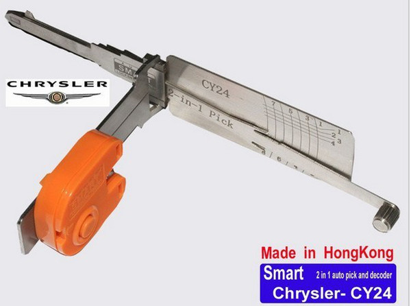 top popular Car locksmith tool Smart CY24 2 in 1 auto pick and decoder lock pick For Chrysler mazda 2021